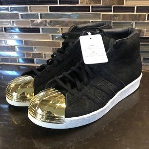 NWT adidas gold hard shell toe sneakers